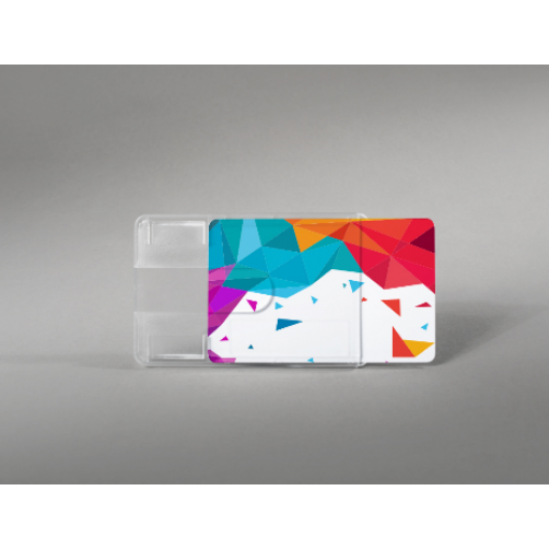 Premium rigid card holder with finger slot design