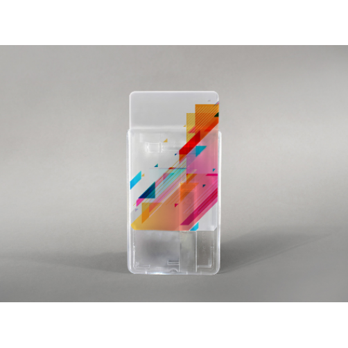 Rigid card holder with slide (vertical)